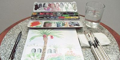 Croquis, aquarelle et carnet de voyage